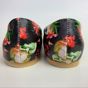 Streetfly Shoes - Streetfly Skull Floral Pointed Ballet Flats Shoes